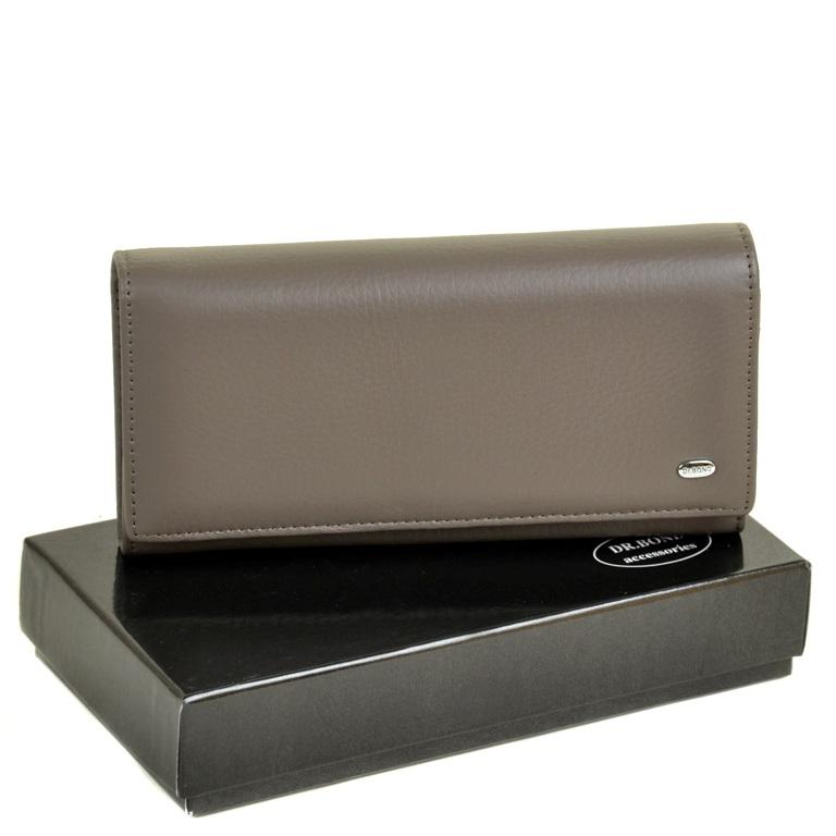 Облегчённый кошелёк «Dr.Bond» из мягкой кожи серого цвета купить. Цена 699 грн
