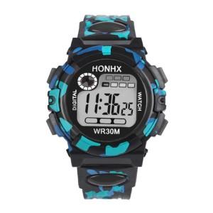 Пятнистые часы «Honhx» в стиле «милитари» с подсветкой, будильником и секундомером фото. Купить