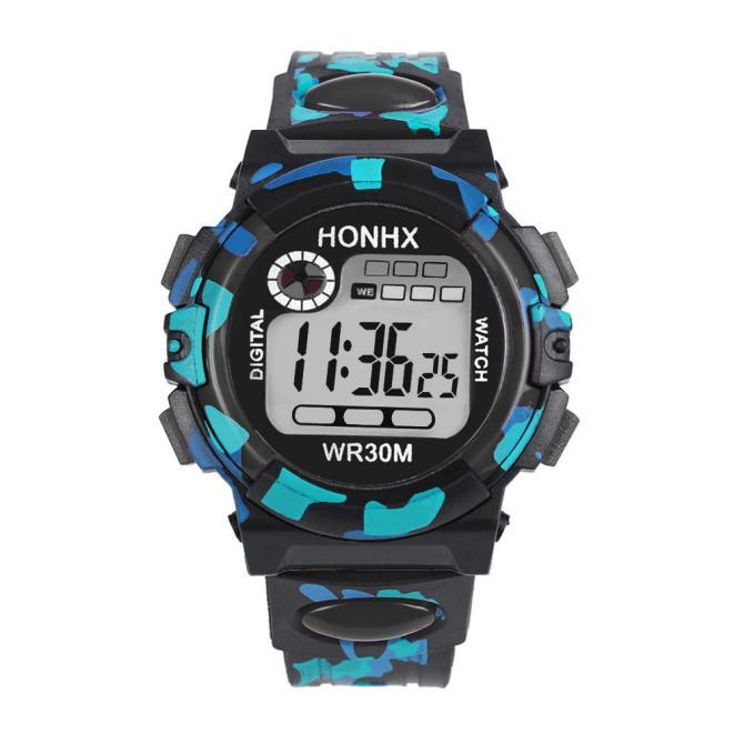 Пятнистые часы «Honhx» в стиле «милитари» с подсветкой, будильником и секундомером купить. Цена 245 грн