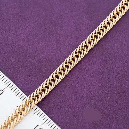 Великолепного качества позолоченный браслет с плетением двойной ромб купить. Цена 175 грн