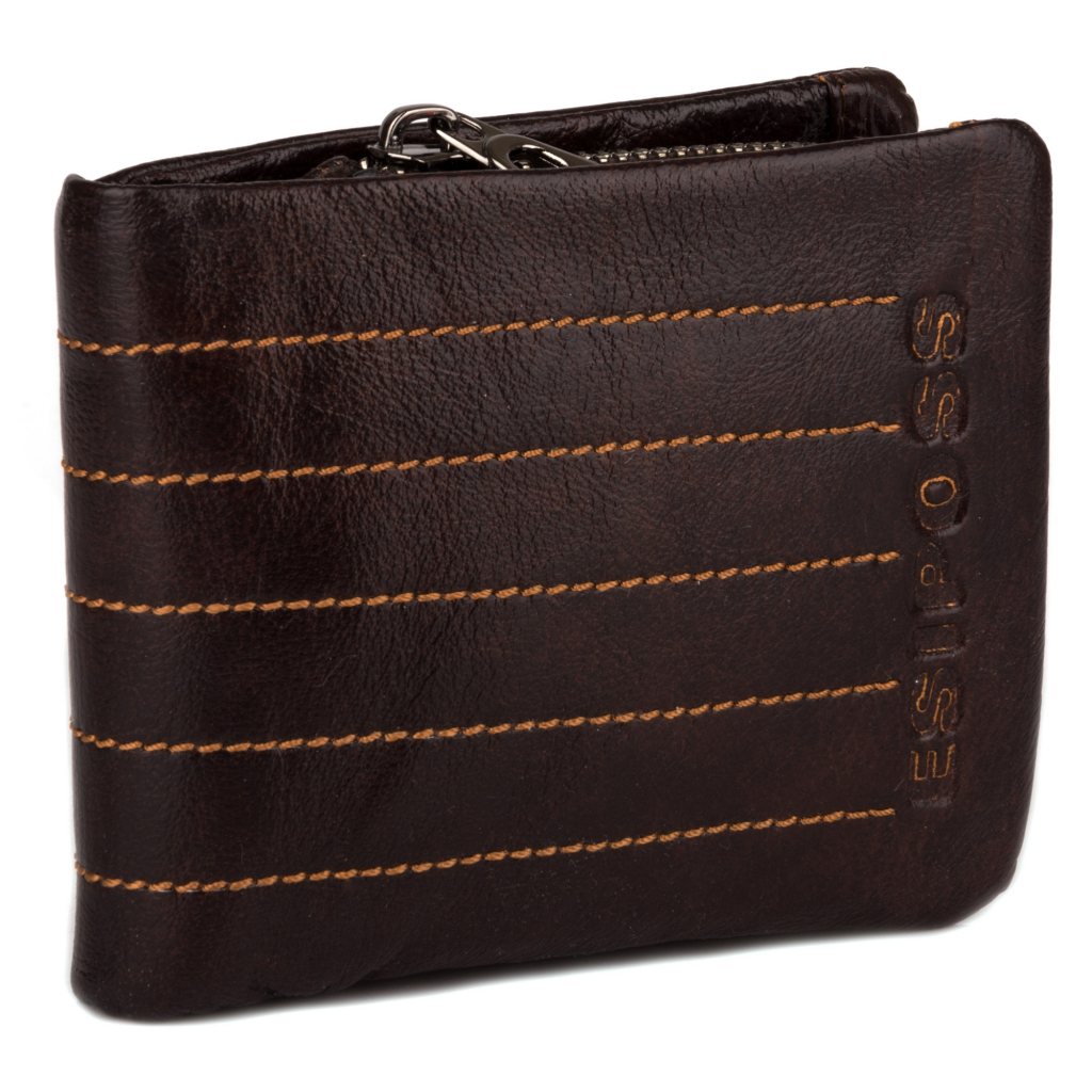 Винтажный мужской бумажник «Esiposs» из мягкой высококачественной кожи купить. Цена 665 грн