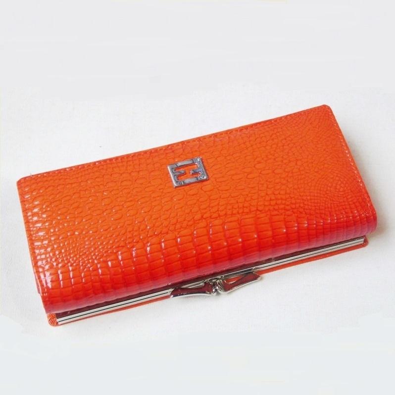 Оранжевый кошелёк «Balisa» из натуральной лаковой кожи купить. Цена 699 грн