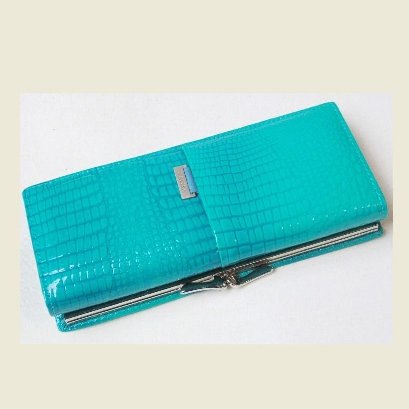 Классический кошелёк «Balisa» из лаковой кожи бирюзового цвета купить. Цена 699 грн