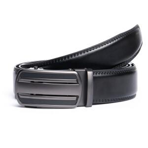 Лаконичный брючный ремень «Danmaneao» чёрного цвета с пряжкой-автомат купить. Цена 375 грн