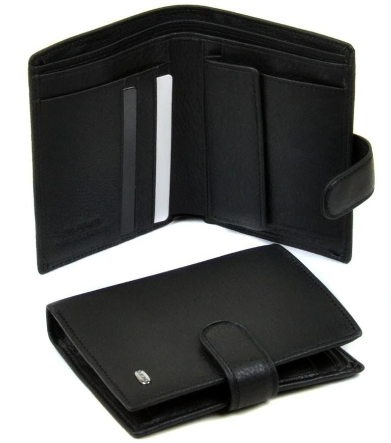 Вертикальный бумажник «Dr.Bond» из качественной кожи чёрного цвета купить. Цена 590 грн