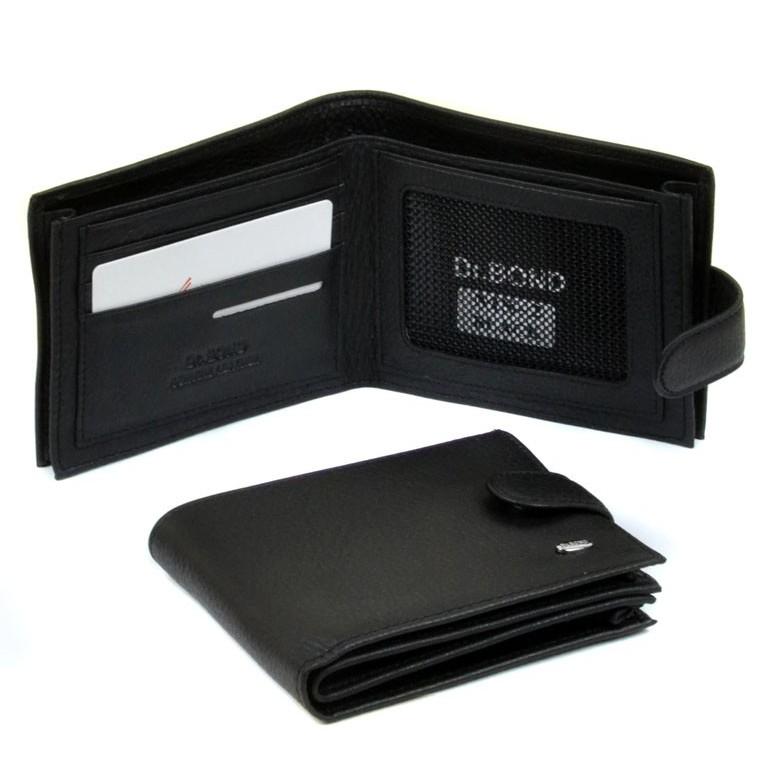 Вместительный бумажник «Dr.Bond» из мягкой качественной чёрной кожи купить. Цена 590 грн