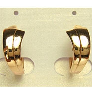 Простые серьги «Паруса» без камней из медицинского золота Xuping купить. Цена 99 грн