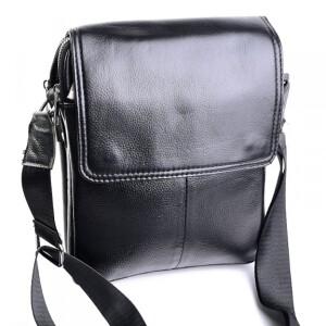 Качественная мужская сумка «Laras» из натуральной кожи с клапаном на магнитах купить. Цена 1490 грн