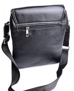 Качественная мужская сумка «Laras» из натуральной кожи с клапаном на магнитах фото 1