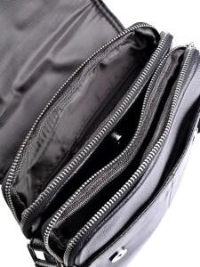 Качественная мужская сумка «Laras» из натуральной кожи с клапаном на магнитах фото 2