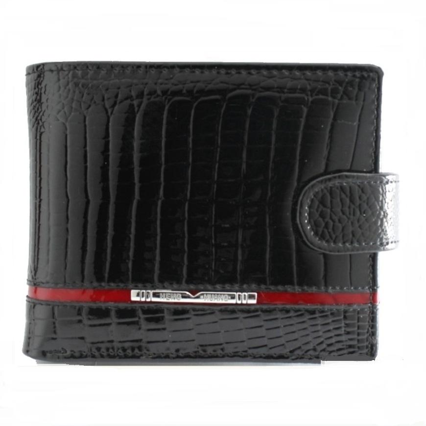 Чёрный кошелёк «Henghuang» небольшого размера из лаковой кожи купить. Цена 590 грн