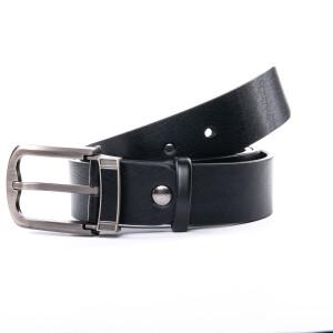 Оригинальный кожаный ремень «Danmaneao» из чёрной кожи с красивой пряжкой купить. Цена 350 грн
