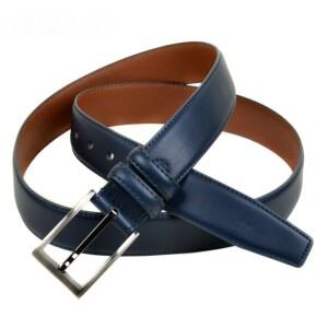 Синего цвета ремень «Alon» из гладкой натуральной кожи с классической пряжкой купить. Цена 430 грн