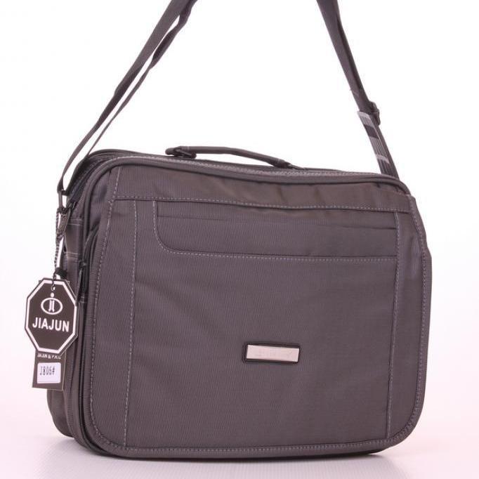 Мужская сумка «Jia Jun» для документов из плотной ткани серого цвета купить. Цена 699 грн