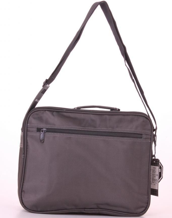 Мужская сумка «Jia Jun» для документов из плотной ткани серого цвета фото 1