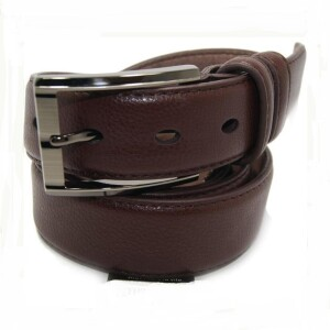 Кожаный коричневый ремень «Alon» с классической пряжкой купить. Цена 435 грн