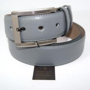 Красивый мужской ремень «Alon» серого цвета из натуральной кожи купить. Цена 499 грн
