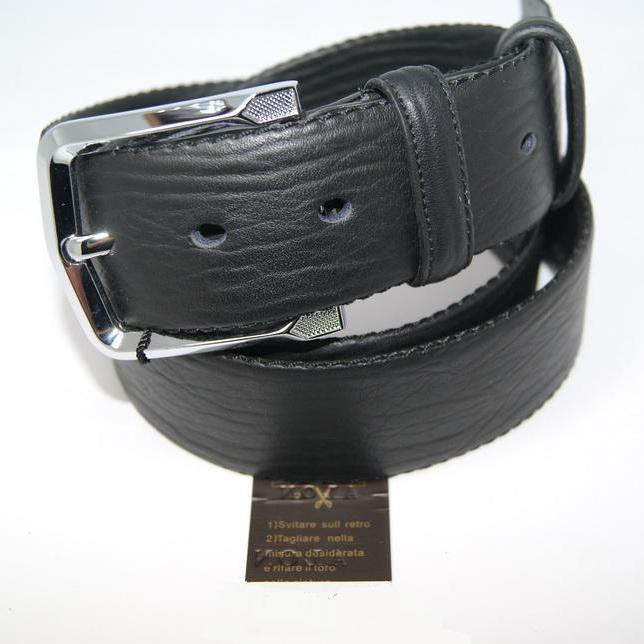 Интересный мужской ремень «Alon» из кожи чёрного цвета с красивой текстурой купить. Цена 499 грн