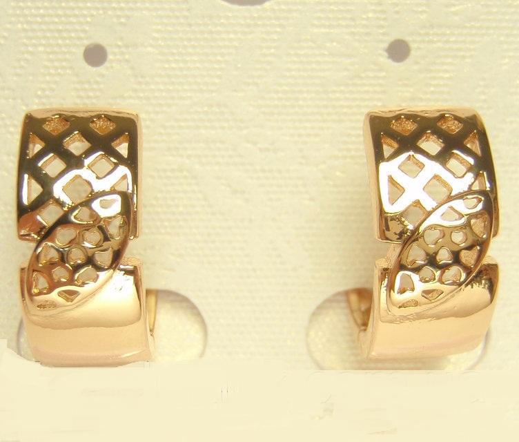 Недорогие позолоченные серьги «Хилари» на каждый день купить. Цена 110 грн