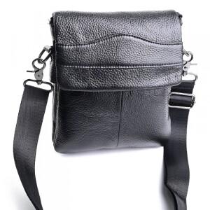 Небольшая мужская сумка «Laras» из натуральной кожи чёрного цвета купить. Цена 1299 грн