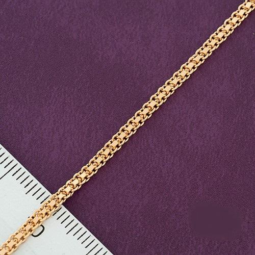 Традиционный позолоченный браслет с плетением итальянский бисмарк купить. Цена 155 грн