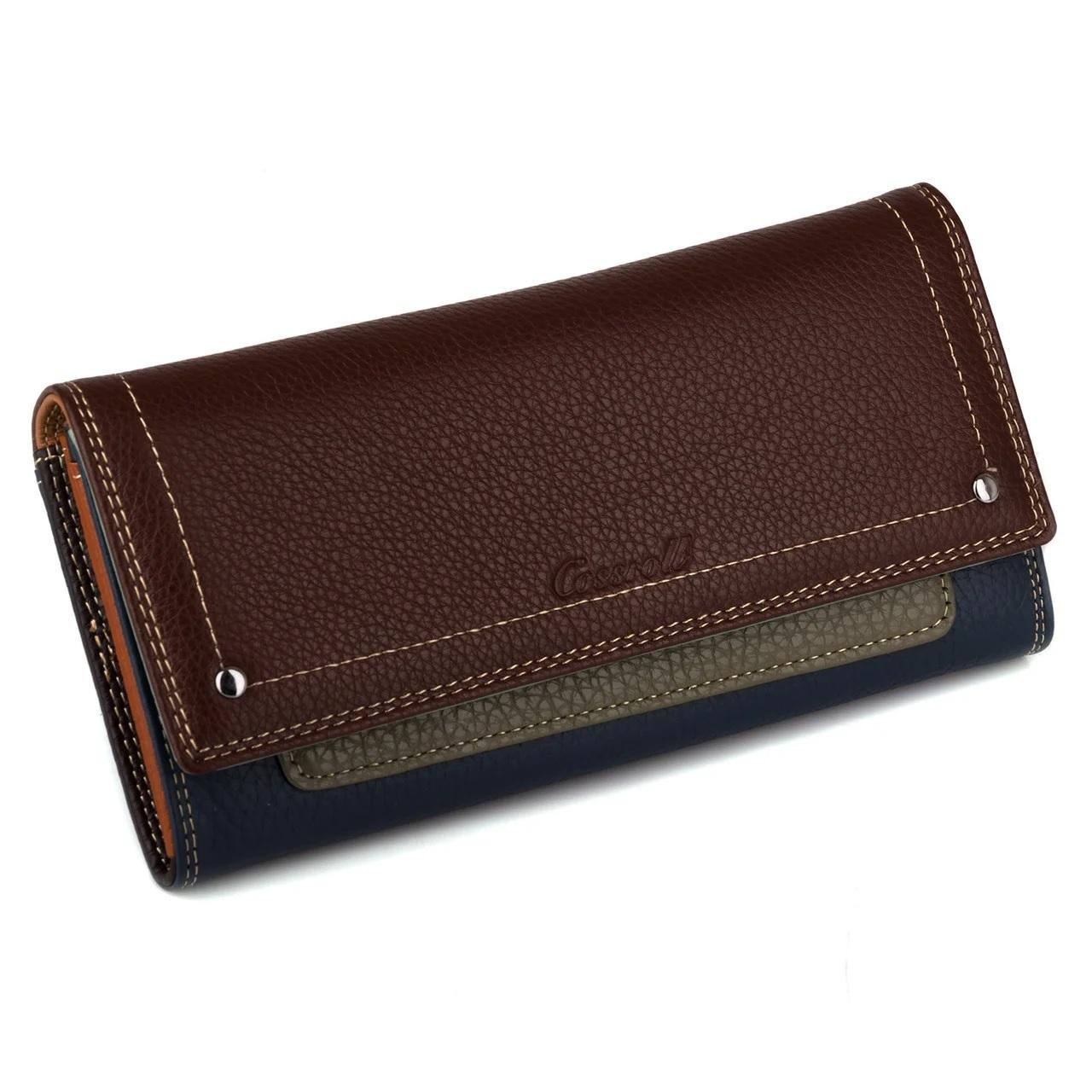 Облегчённый кошелёк «Cossroll» из натуральной разноцветной кожи купить. Цена 799 грн