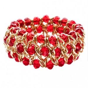 Чудесный браслет «Пражский» из чешского стекла красного цвета купить. Цена 165 грн
