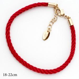 Простой браслет в виде крученой красной нити с позолоченной фурнитурой купить. Цена 89 грн