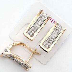 Двухцветные серьги «Меган Люкс» от производителя Xuping купить. Цена 185 грн