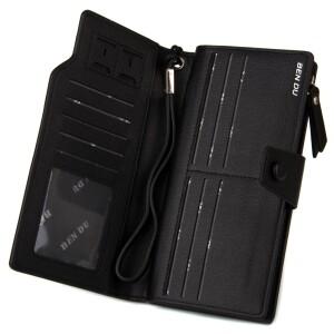 Популярный мужской клатч-кошелёк «KAFA» из качественной плотной экокожи фото 1