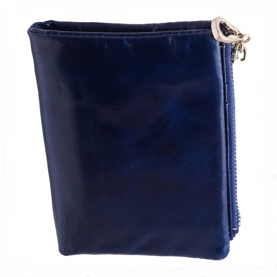 Тонкий кошелёк «Dioumisa» из масляной кожи синего цвета купить. Цена 699 грн