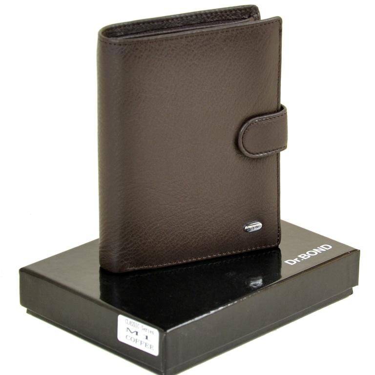 Шикарное портмоне «Dr.Bond» из качественной кожи шоколадного цвета купить. Цена 698 грн