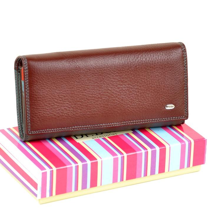 Классический кожаный кошелёк «Dr.Bond» с монетницей на защёлке внутри купить. Цена 699 грн