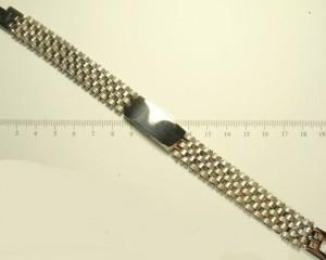 Серьёзный мужской браслет «Гладиатор» из медицинской стали с крупным плетением фото. Купить
