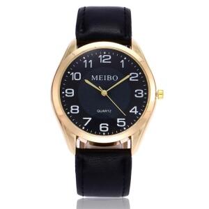 Обыкновенные часы «Meibo» в классическом стиле с чёрным ремешком купить. Цена 245 грн