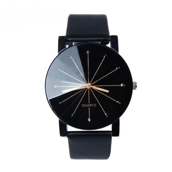 Стильные чёрные наручные часы «Quartz» со стразами на циферблате и чёрным ремешком купить. Цена 245 грн