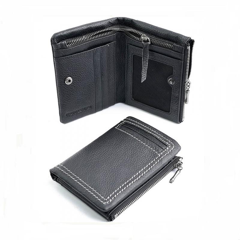 Оригинальный бумажник «Pilusi» на кнопке из мягкой чёрной кожи купить. Цена 698 грн