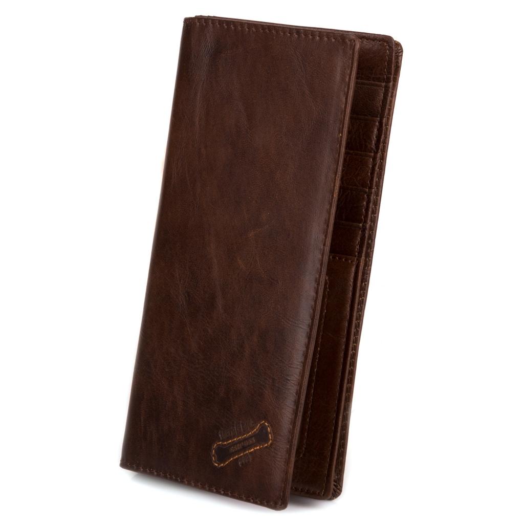 Лёгкий купюрник «Esiposs» из натуральной винтажной кожи рыжего цвета купить. Цена 599 грн