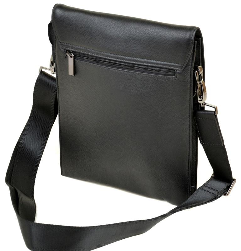 Ультратонкая мужская сумка «Bretton» из высококачественной мягкой натуральной кожи фото 1