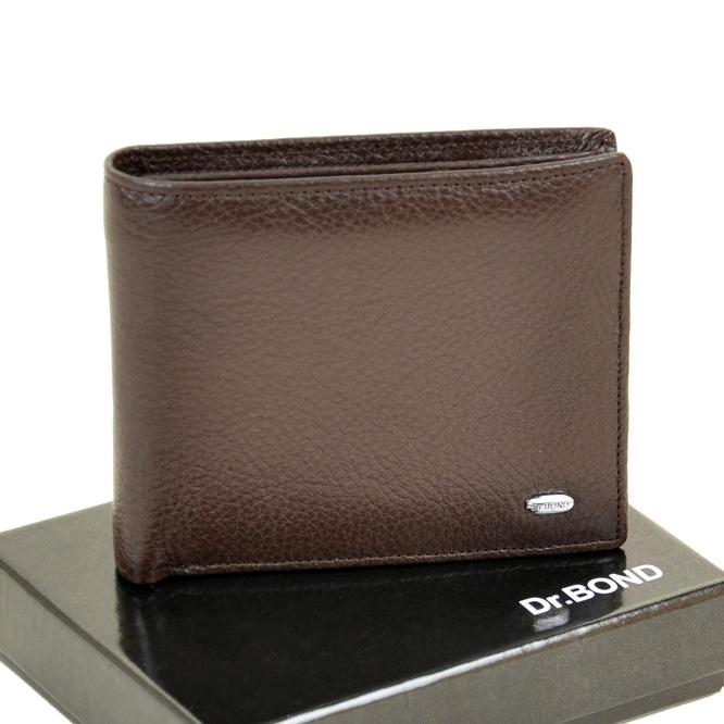 Коричневый бумажник «Dr.Bond» из мягкой кожи с зажимом для купюр купить. Цена 590 грн