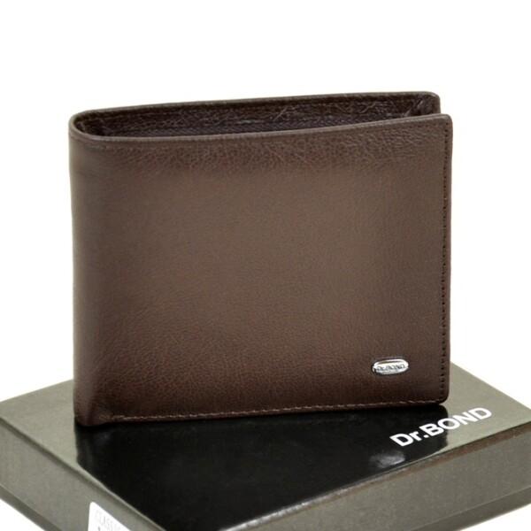 Оригинальный кожаный бумажник «Dr.Bond» с магнитной застёжкой купить. Цена 598 грн