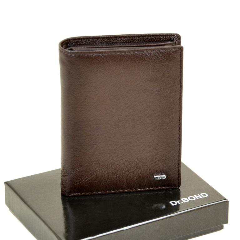 Классическое портмоне «Dr.Bond» на магните из мягкой коричневой кожи купить. Цена 685 грн