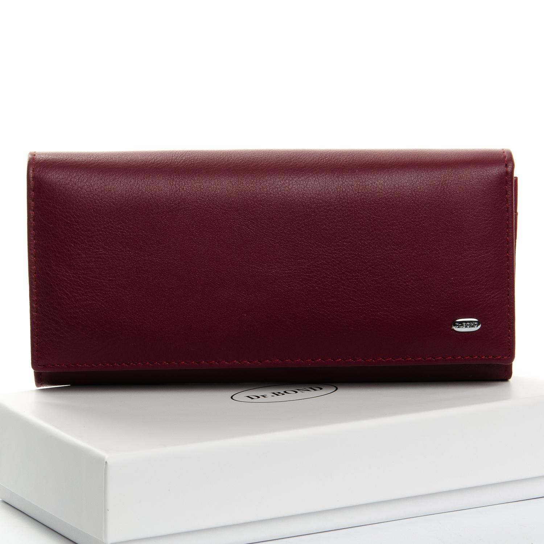 Классический женский кошелёк «Dr.Bond» из мягкой кожи красивого вишнёвого цвета купить. Цена 699 грн