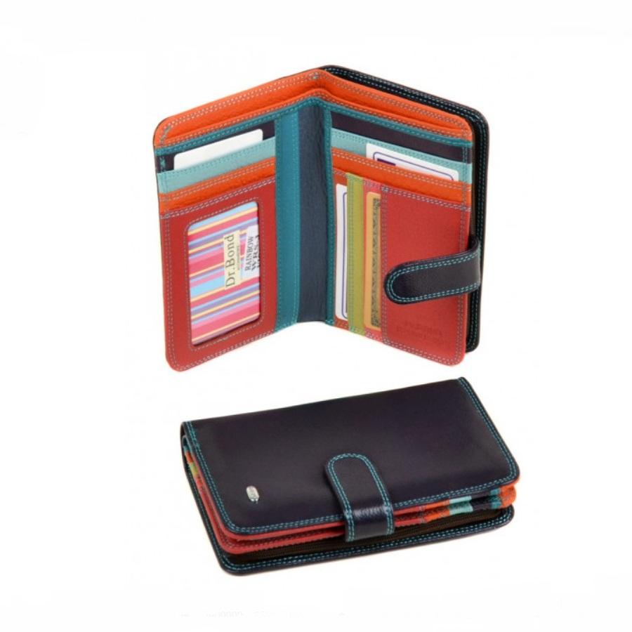Среднего размера кошелёк «Dr.Bond» из мягкой кожи фиолетового цвета купить. Цена 675 грн
