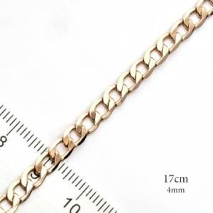 Классический браслет-цепочка панцирного плетения с качественной позолотой купить. Цена 165 грн