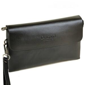 Отличный мужской клатч «Dr.Bond» чёрного цвета с клапаном из кожи на магнитах купить. Цена 499 грн