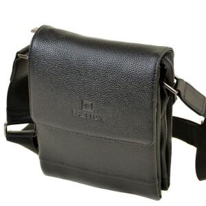 Деловая мужская сумка «Bretton» небольшого размера из чёрной кожи купить. Цена 1299 грн