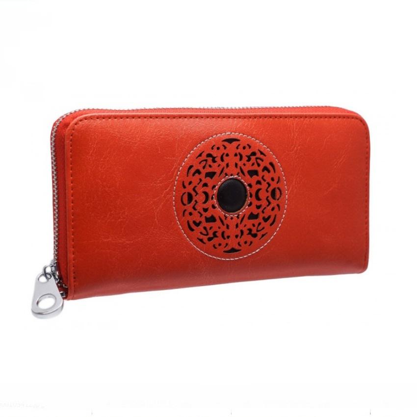 Красный кошелёк «Cossni» из гладкой кожи с красивой перфорацией на фасаде купить. Цена 675 грн