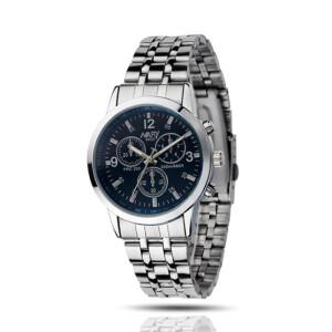 Качественные часы «Nary Atlantic» с небольшим синим циферблатом и стальным браслетом фото. Купить