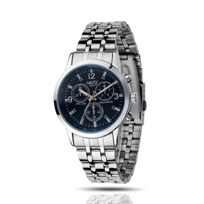 Качественные часы «Nary Atlantic» с небольшим синим циферблатом и стальным браслетом купить. Цена 385 грн